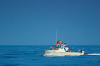 Family fishing boat, off Kona, Big Island, Hawaii, USA, Pacific Ocean