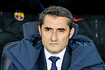 FC Barcelona Head Coach Ernesto Valverde during the La Liga 2017-18 match between FC Barcelona and Deportivo La Coruna at Camp Nou Stadium on 17 December 2017 in Barcelona, Spain. Photo by Vicens Gimenez / Power Sport Images