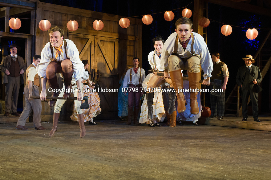 London, UK. 20.07.2015. Regent's Parks Open Air Theatre presents SEVEN BRIDES FOR SEVEN BROTHERS, directed by Rachel Kavanaugh. Photograph © Jane Hobson.