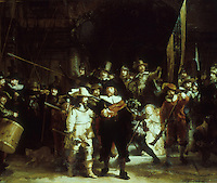 Rembrandt: The Night Watch.  Rijksmuseum, Amsterdam. Reference only.