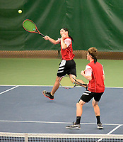 Sauk Prairie's Kelby Mack (left) and Noah Wankerl win #1 Doubles 6-2, 6-2, during the Badger Conference Wisconsin boys high school tennis tournament on Saturday, May 18, 2019 at Nielsen Tennis Stadium in Madison, Wisconsin