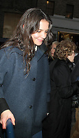 NEW YORK, NY - DECEMBER 26: Katie Holmes arriving to the Music Box in New York City for her Broadway play Dead Accounts. December 26, 2012. Credit: RW/MediaPunch Inc. /NortePhoto