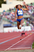June 15th 2017, Bislett Stadion , Oslo, Norway; Diamond League Oslo Bislett Games;  Jazmin Sawyers of United Britain competes in the ladies long jump during the IAAF Diamond League held at the Bislett Stadium