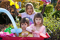 Three Sisters with Balloons, Renton Multicultural Festival 2017, WA, USA.