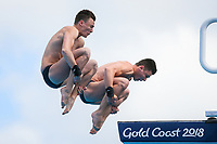 Picture by Alex Whitehead/SWpix.com - 13/04/2018 - Commonwealth Games - Diving - Optus Aquatics Centre, Gold Coast, Australia - Men's Synchronised 10m Platform Final, Silver - Matthew Dixon and Noah Williams of England.