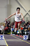 12 MAR 2011: Isaac Vazquez of Wisconsin La Crosse triple jumps during the Division III Men's and Women's Indoor Track and Field Championships held at the Capital Center Fieldhouse on the Capital University campus in Columbus, OH.  Jay LaPrete/NCAA Photos
