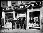 Frederick Stone negative. Bergin's Store, 1892. Lt. Bergin second from left.
