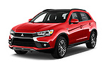 2017 Mitsubishi ASX Instyle 5 Door SUV Angular Front stock photos of front three quarter view