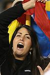 06 June 2008: A Venezuela fan. The Venezuela Men's National Team defeated the Brazil Men's National Team 2-0 at Gillette Stadium in Foxboro, Massachusetts in an international friendly soccer match.