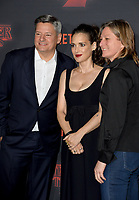 Ted Sarandos, Winona Ryder &amp; Cindy Holland at the premiere for Netflix's &quot;Stranger Things 2&quot; at the Westwood Village Theatre. Los Angeles, USA 26 October  2017<br /> Picture: Paul Smith/Featureflash/SilverHub 0208 004 5359 sales@silverhubmedia.com