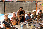 Hawaii: Molokai, Friday night kupuna night entertainment by locals at the Hotel Molokai, with singers, ukulele strummers, hula dancers, and good food and drink. .Photo himolo171-71772..Photo copyright Lee Foster, www.fostertravel.com, lee@fostertravel.com, 510-549-2202