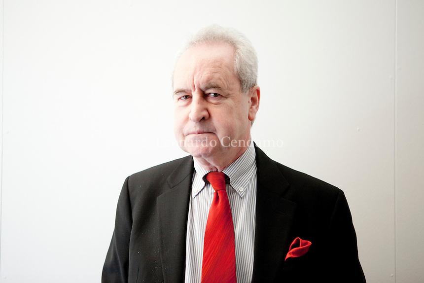 Irish novelist John Banville was born in Wexford in Ireland in 1945. Ronchi di Percoto 2013. John Banville, scrittore irlandese. © Leonardo Cendamo