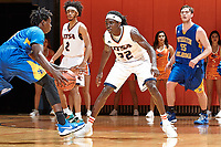 SAN ANTONIO, TX - NOVEMBER 7, 2017: The University of Texas at San Antonio Roadrunners defeat the Southeastern Oklahoma State University Savage Storm 79-67 at the UTSA Convocation Center. (Photo by Jeff Huehn)