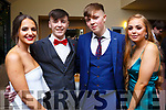 Fiona Vodobi, Evan O'Connell, Teddy Moynihan and Alanna O'Sullivan from Tralee attending the Mercy Mounthawk debs in the Ballyroe Heights Hotel on Thursday night last.