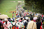 TAOYUAN, TAIWAN - OCTOBER 27:  Spectators walk on the 9th hole during the day three of the Sunrise LPGA Taiwan Championship at the Sunrise Golf Course on October 27, 2012 in Taoyuan, Taiwan.  Photo by Victor Fraile / The Power of Sport Images
