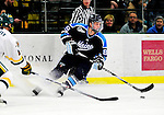 30 January 2010: University of Maine Black Bears' forward Gustav Nyquist, a Sophomore from Malmo, Sweden, in first period action against the University of Vermont Catamounts at Gutterson Fieldhouse in Burlington, Vermont. The Black Bears and the Catamounts played to a 4-4 tie in the second game of their America East weekend series. Mandatory Credit: Ed Wolfstein Photo