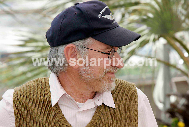 **ALL ROUND PICTURES FROM SOLARPIX.COM**.**SYNDICATION RIGHTS FOR UK, SPAIN, PORTUGAL, AUSTRALIA, S.AFRICA & DUBAI (U.A.E) ONLY**.Shia LaBeouf (L-R), George Lucas, Steven Spielberg, Harrison Ford and Cate Blanchett at the photocall of 'Indiana Jones and the Kingdom of the Crystal Skull' in Cannes..This pic Steven Spielberg.JOB REF: 6449    PHZ    DATE: 18.05.08.**MUST CREDIT SOLARPIX.COM OR DOUBLE FEE WILL BE CHARGED* *UNDER NO CIRCUMSTANCES IS THIS IMAGE TO BE REPRODUCED FOR ANY ONLINE EDITION WITHOUT PRIOR PERMISSION*