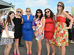 Claire Kelly, Claire Mahon, Aoife Egan, Edel McGuinness, Ann Glynn and Sarah Nestor pictured at Bellewstown races. Photo:Colin Bell/pressphotos.ie