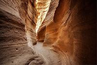 Slot canyon in Tent Rocks National Monument, New Mexico