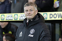Manchester United Manager Ole Gunnar Solskjaer during the Premier League match between Norwich City and Manchester United at Carrow Road on October 27th 2019 in Norwich, England. (Photo by Matt Bradshaw/phcimages.com)<br /> Foto PHC/Insidefoto <br /> ITALY ONLY
