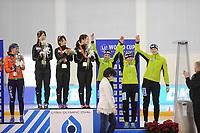 SPEEDSKATING: SALT LAKE CITY: 08-12-2017, Utah Olympic Oval, ISU World Cup, Podium Team Pursuit Ladies, Team Japan, Team Germany, ©photo Martin de Jong