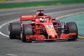 24th March 2018, Melbourne Grand Prix Circuit, Melbourne, Australia; Melbourne Formula One Grand Prix, qualifying; Sebastian Vettel of Germany driving the (5) Ferrari SF71H