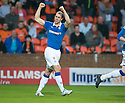 :: RANGERS' STEVEN WHITTAKER CELEBRATES AFTER HE SCORES RANGERS' PENALTY :: .19/04/2011   Copyright  Pic : James Stewart.sct_jsp007_dundee_utd_v_rangers .James Stewart Photography 19 Carronlea Drive, Falkirk. FK2 8DN      Vat Reg No. 607 6932 25.Telephone      : +44 (0)1324 570291 .Mobile              : +44 (0)7721 416997.E-mail  :  jim@jspa.co.uk.If you require further information then contact Jim Stewart on any of the numbers above.........