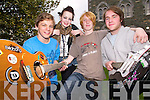 TUNING UP: Members of 'Michigan' who are one of the bands partaking in the KDYS band project, l-r: Name Removed, Gillian Looney, Ben Bowes and Paddy O'Connor.   Copyright Kerry's Eye 2008