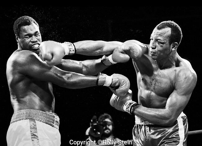 Larry Holmes v. James Smith.  Holmes WTKO12.  IBF Heavyweight title.