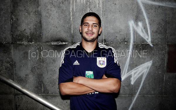 Serbian football player Aleksandar Mitrović in Brussels (Belgium, 15/08/2013)