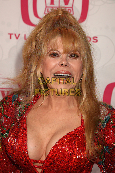 CHARO.5th Annual TV Land Awards at Barker Hangar, Santa Monica, California, USA, 14 April 2007..half length red dress mouth open funny cleavage.CAP/ADM/BP.©Byron Purvis/AdMedia/Capital Pictures.