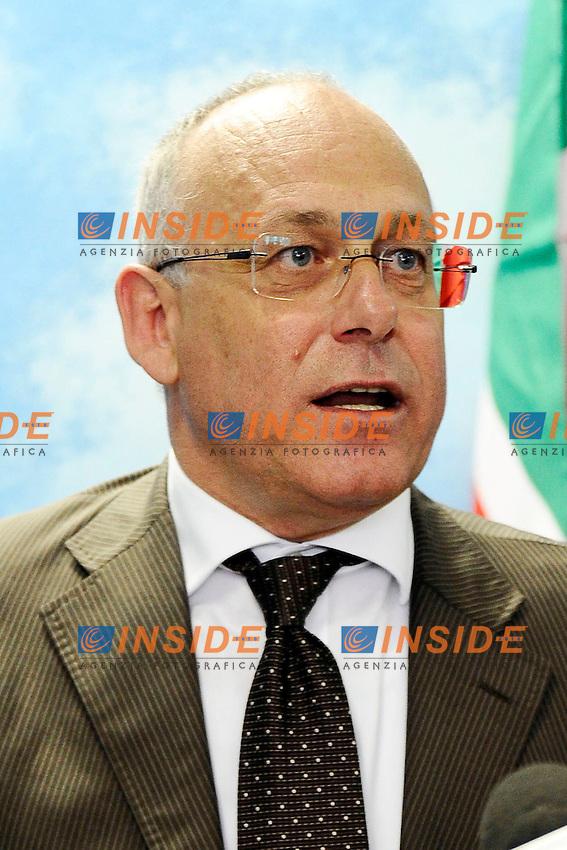 """Mauro Parolini <br /> Milano 20/09/2013 Viale Monza<br /> conferenza stampa 'Da Pdl a Forza Italia' <br /> Press conference """"From PDL to Forza Italia"""" <br /> foto Andrea Ninni/Image/Insidefoto"""