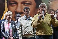ATEN&Ccedil;&Atilde;O EDITOR: FOTO EMBARGADA PARA VE&Iacute;CULOS INTERNACIONAIS. -&nbsp;SAO PAULO, SP, 29 DE SETEMBRO 2012 - ELEI&Ccedil;&Otilde;ES 2012 - &nbsp;FERNANDO HADDAD -O Candidato a prefeitura de Sao Paulo Fernando haddad participou de um com&iacute;cio na noite deste s&aacute;bado em Sao Miguel Paulista na zona leste da cidade. No com&iacute;cio esteve presente o es- presidente Luiz Inacio lula da silva, ministra da Cultura Marta Suplicy e o Ministro da educa&ccedil;&atilde;o Aloisio Mercadante. Na foto marta suplicy, fernando haddad e lula<br /> Local: Pra&ccedil;a Padre Aleixo Monteiro Mafra<br /> VAGNER CAMPOS/ BRAZIL PHOTO PRESS<br /> <br /> Local: Pra&ccedil;a Padre Aleixo Monteiro Mafra<br /> VAGNER CAMPOS/ BRAZIL PHOTO PRESS <br /> <br /> Local: Pra&ccedil;a Padre Aleixo Monteiro Mafra<br /> VAGNER CAMPOS/ BRAZIL PHOTO PRESS