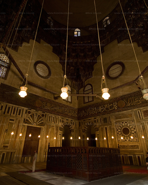 Cairo, Egypt -- Inside the mausoleum of the Sultan Hassan mosque.   © Rick Collier / RickCollier.com.