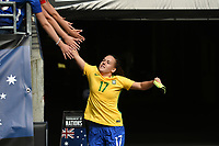 Seattle, WA - Thursday July 27, 2017: Andressinha during a 2017 Tournament of Nations match between the women's national teams of the Japan (JAP) and Brazil (BRA) at CenturyLink Field.