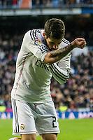 Real Madrid´s Isco celebrates a goal during 2014-15 La Liga match between Real Madrid and Deportivo de la Coruna at Santiago Bernabeu stadium in Madrid, Spain. February 14, 2015. (ALTERPHOTOS/Luis Fernandez) /NORTEphoto.com