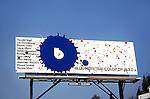 Blue Note records billboard on the Sunset Strip circa 1971