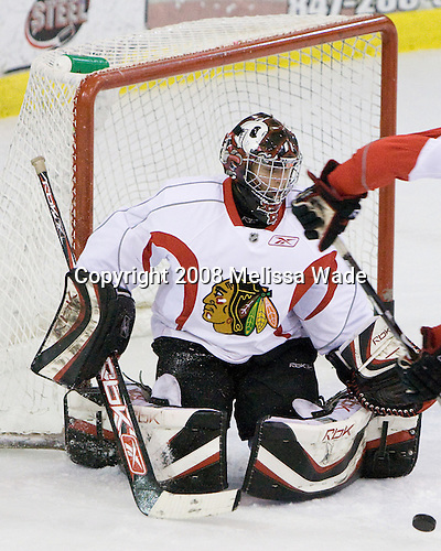 Sebastian Dahm - Prospects and free agents took part in the 2008 Chicago Blackhawks Prospects Camp at Edge Ice Arena in Bensenville, Illinois, on Friday, July 11, 2008.
