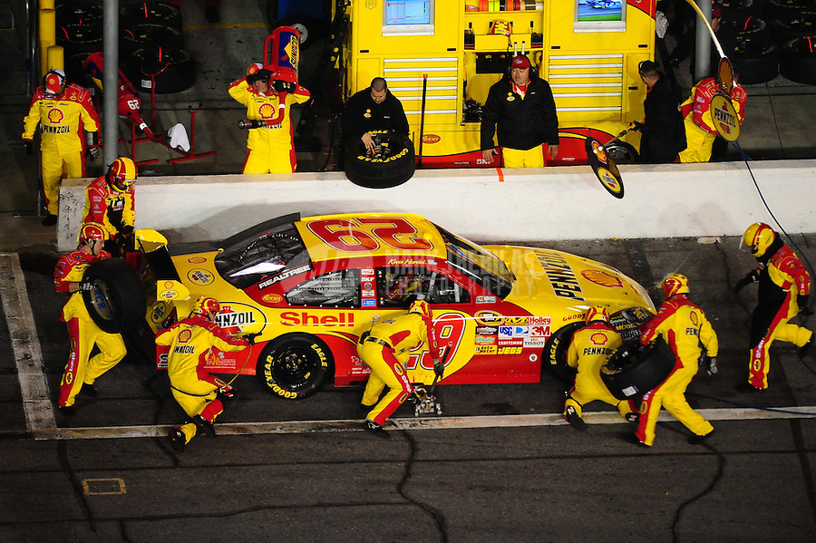 Feb 6, 2010; Daytona Beach, FL, USA; NASCAR Sprint Cup Series driver Kevin Harvick pits during the Bud Shootout at Daytona International Speedway. Mandatory Credit: Mark J. Rebilas-