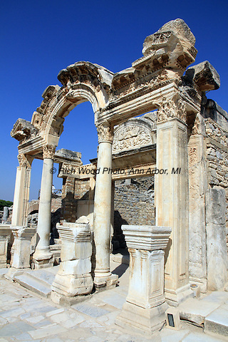 Entrance to the Temple of Hadrian in Ephesus, Turkey