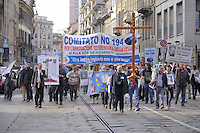 - Milano, manifestazione di cattolici oltranzisti contro la legge 194 sull'aborto<br />