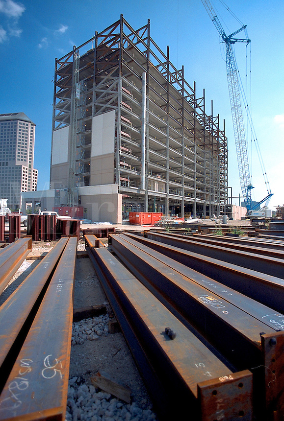 Construction site of a high rise building