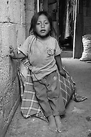 Jefferson. Young boy living in poverty in the slums of Quito, Ecuador