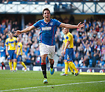 Andy Little celebrates after scoring goal no 3