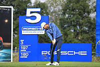 Lucas Bjerregaard (DEN) on the 5th tee during the 1st round at the Porsche European Open, Green Eagles Golf Club, Luhdorf, Winsen, Germany. 05/09/2019.<br /> Picture Phil Inglis / Golffile.ie<br /> <br /> All photo usage must carry mandatory copyright credit (© Golffile | Phil Inglis)