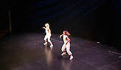 "Kerry Peart & Hannah Greenslade from the Flight Dance Company, performing.   Special Olympics Surrey put on a show,   ""Beyond the Stars"", at the Rose Theatre, Kingston upon Thames to raise money for the  SOGB team.  The Special Olympics are for athletes with learning disabilities."