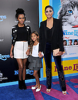 """01 August 2016 - Hollywood, California. Ava Dash, Rachel Roy, Talluah Ruth Dash. World premiere of """"Nine Lives"""" held at the TCL Chinese Theatre. Photo Credit: Birdie Thompson/AdMedia"""