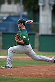 February 21, 2010:  Pitcher Dan Miklas (45) of the Siena Saints during a game at Melching Field at Conrad Park in DeLand, FL.  Siena lost to Stetson by the score of 8-7.  Photo By Mike Janes/Four Seam Images