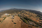 An aerial view of Middletown, California after taking off in a hot air balloon on Saturday July 14th 2012. (Photo By Brian Garfinkel)
