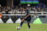 San Jose, CA - Saturday September 30, 2017: Jahmir Hyka during a Major League Soccer (MLS) match between the San Jose Earthquakes and the Portland Timbers at Avaya Stadium.